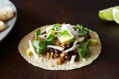 Coconut-Lime Pork Tacos with Black Beans and Avocado