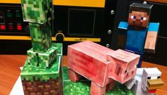 Minecraft Paper figures