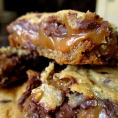 Knock You Naked Cookie Bars Recipe | Key IngredienCookie bars with caramel filling