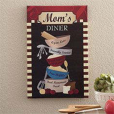 "Family Bistro Personalized Kitchen Canvas Print - 12"" x 18"""