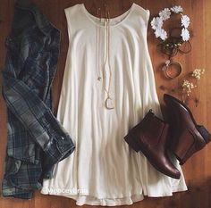 boho chic grunge, flower crowns, mooie outfit, blehk, the dress