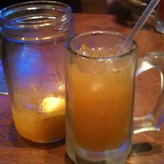 (my favorite!!!) Logan's Roadhouse Geogria Sun Tea:  3/4 Everclear, 3/4 Gin, 3/4 Rum, 3/4 Deykuper triple sec, 3oz of sweet and sour, Splash a coke, 1/2 ounce jeremiah weed and a splash of peach schnapps