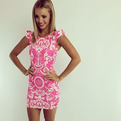 OBSESSED- little pink dress.