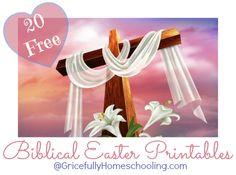 20 FREE Biblical Easter Printables