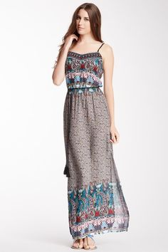 Flying Tomato Embroidered Printed Maxi Dress by Flying Tomato & Jealous Tomato on @HauteLook