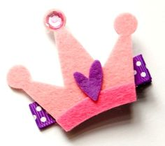 felt hair clip.. will try this one.