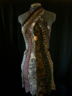 Very creative way to recycle neck ties
