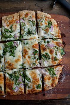 Spinach Ranch Pizza (pizza dough recipe)