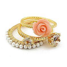 Flower Ring Stack