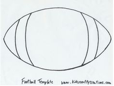 Templates on pinterest templates stencil and coloring pages for Football cutout template