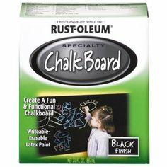 Rust-Oleum 206540 Chalkboard Brush-On, Black, 30-Ounce - Amazon.com