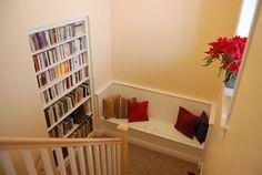 cozy stairwell reading
