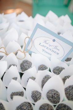 lavender toss (instead of rice) - fragrant + more environmentally friendly lavend toss, event planning, galleri, wedding ideas, lavender weddings, romantic weddings, floral designs, wedding details, flower