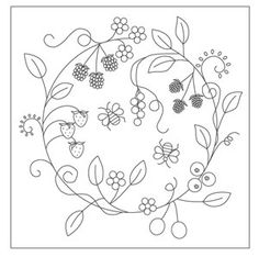 Seasonal mandala embroidery pattern