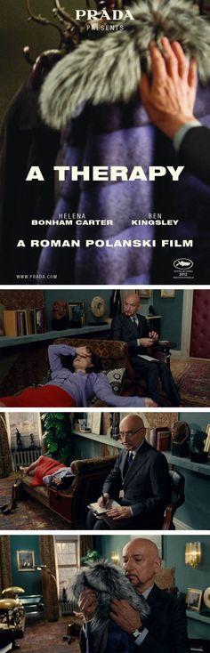 ATherapy short, film, romans, prada, ben kingsley, cann, therapi, helena bonham carter, roman polanski