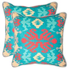 Love this color combo. Rye Pillow (Set of 2)