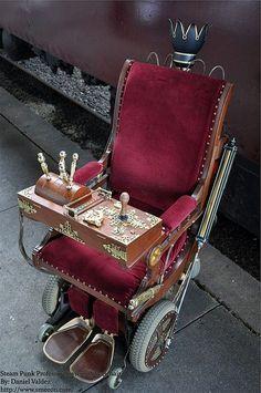 Steampunk wheelchair.