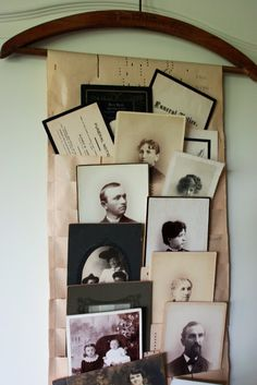 Mamie Jane's: Welcome To My Studio. Piano paper roll made into a photo display.