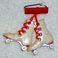 Vintage Celluloid Roller Skates Pin.  What great memories I have of the Imperial Roller Rink in Portland, Oregon!!!