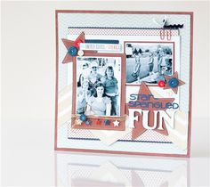 Star-Spangled Fun Scrapbook Layout