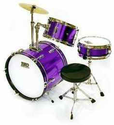 """TKO 3-piece Children's Drum Set with Throne & Cymbal - Purple by TKO. $138.99. Suitable for ages 5-9, this is the perfect drum set for the child just starting out!  This set is made by TKO, one of the best names in student and intermediate drum sets! It features 3 high-quality drums, as well as cymbal and throne.  Drum set includes: ? 4"""" x 10"""" Snare with stand ? 6"""" x 10"""" Tom tom ? 10"""" x 16"""" Bass drum with pedal ? Bass mounted cymbal stand & 10"""" cymbal ? Junior dr..."""