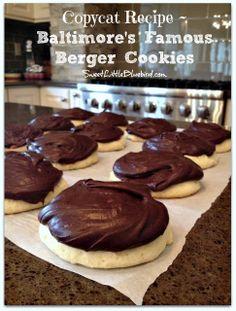 Shut the front door!!  I love bergers!!!!   Copycat Recipe - Baltimore's Famous Berger Cookies | SweetLittleBluebird.com