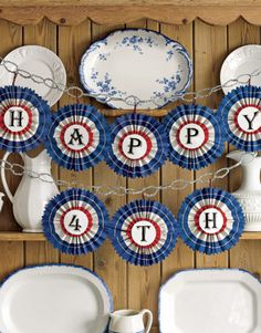 patriotic decorations {country living}
