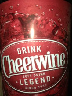 Drink Cheerwine Soft Drink Legend Since 1917 Salisbury, NC northcarolina, mouth, soft drinks