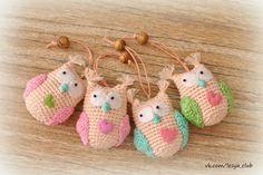 Owl Amigurumi - Free Russian Pattern http://lesya-blog.blogspot.ru/2013/03/blog-post_21.html