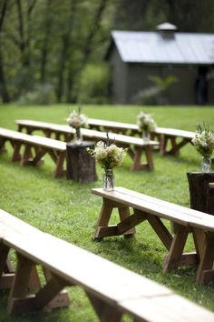 simple and lovely aisle decor.