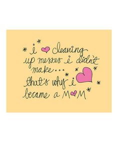 Take a look at this 'Cleaning' Print by Doodle Art Prints by Doodli-Do's on #zulily today!