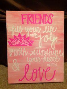 DIY canvas #sorority