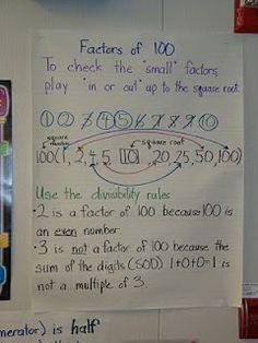 Factors of 100