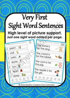 Very First Sight Word Sentences ~ Guided Reading Levels A and B from Common Core Connection on TeachersNotebook.com -  (23 pages)  - Very First Sight Word Sentences ~ Guided Reading Levels A and  B with a high level of picture support.  Just one word added per page.
