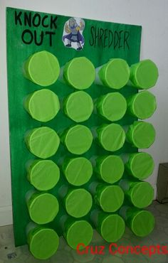 Tmnt ninja turtle party theme activity game decor Knock out shredder(punch a cup to find him)