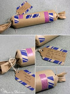Adorable packaging with washi tape