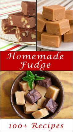 Fudge 100+ Recipes ~ All the fudge recipes you could ever want.
