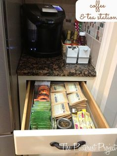 Tea & Coffee Station - great idea, especially if you have guests over frequently