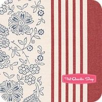 Le Bouquet Francais Faded Red Laverna Yardage SKU# 13663-18
