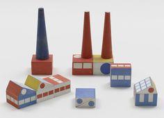 """Ladislav Sutner, """"Build the Town"""" block set, 1940-43"""