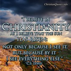 C.S. Lewis Quote - Christianity - Christian Quotes