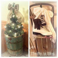 Rustic Christmas Decor Ideas - Thrifty 31 Blog
