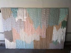 Geometric Lace Backdrop - Mint Green, Peach, Ivory, Khaki, Brown. Events | Harmony Creative Studio Santa Monica, California