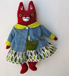 forest fox, sew, franni, foxi, softi, fox doll, foxes, mimi kirchner