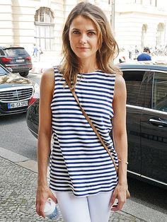 Star Tracks: Monday, July 21, 2014 | SIMPLY CHIC | Dawn of the Planet of the Apes star Keri Russell earns her stripes while out and about Friday in Berlin.