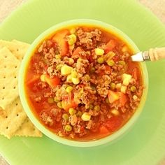Retro Hamburger Soup by syrupandbiscuits