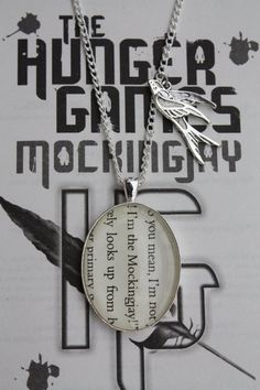 Alex - Hunger Games 'I'm the Mockingjay' Quote Necklace - Rachel would love this - too bad I am not crafty. I wanna learn how to make jewelry!