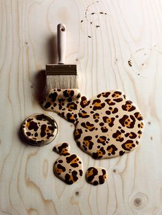 Leopard Print Paint, very cool!  What???