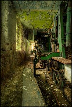 Vintage Industrial Relics of Abandoned Sion Mills: located near the Northern Irish town of Strabane, County Tyrone.