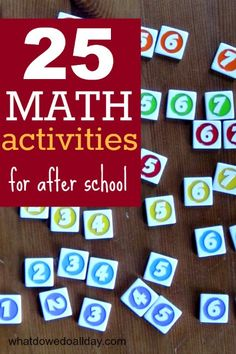 Playful ways to support math learning  After School by What Do We Do All Day